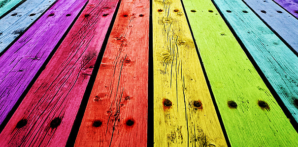 assorted-color wooden board