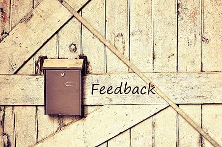 brown metal feedback mailbox
