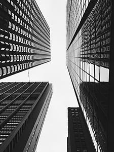 low angle photography of high rise buildings at daytime