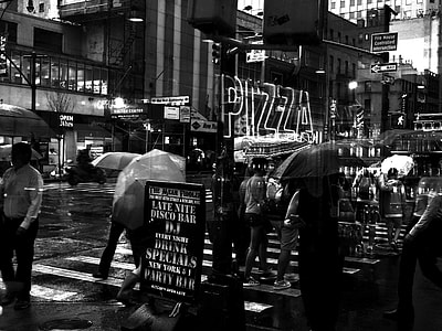 grayscale photo of New York City
