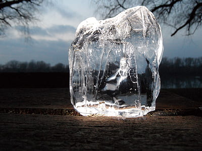 clear ice block