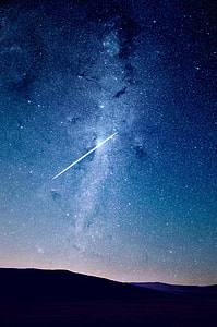 close up of shooting star