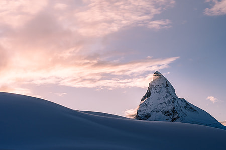 snow mountain peak