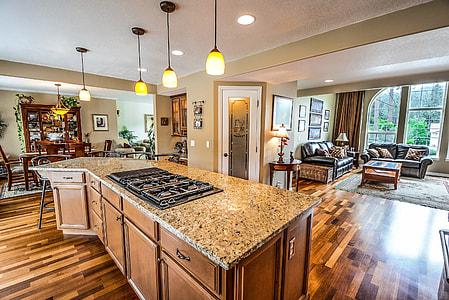 kitchen room near living room during daytime