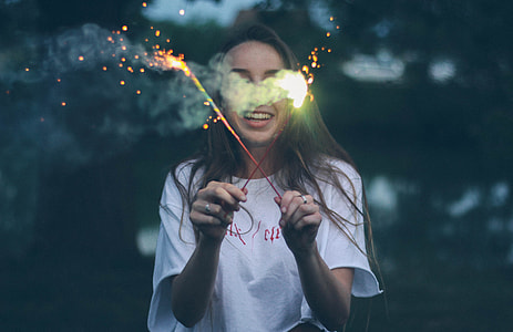 person holding a fireworks