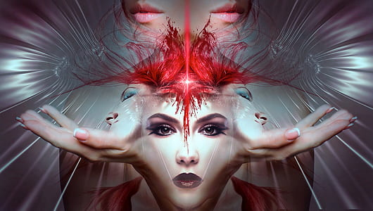 woman's face art