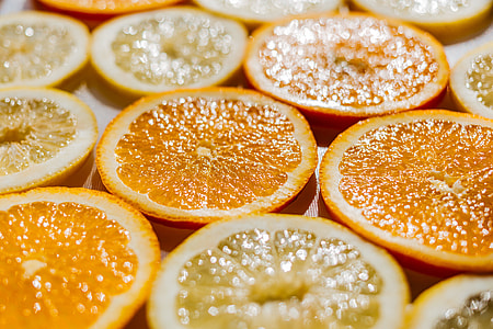 Oranges Lemons Slices Fresh