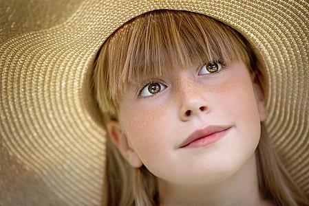 girl wearing strawhat