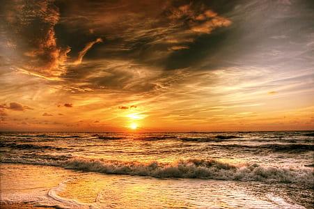 ocean sunset panoramic photography