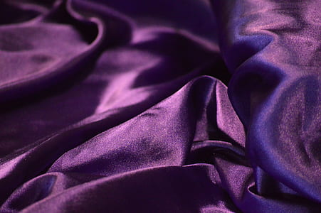 purple satin textile
