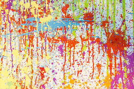 multicolored paint splatter digital wallpaper