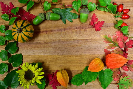 assorted-artificial vegetables on brown wooden surface