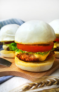 Chinese Pork Burger by. CharmingChef