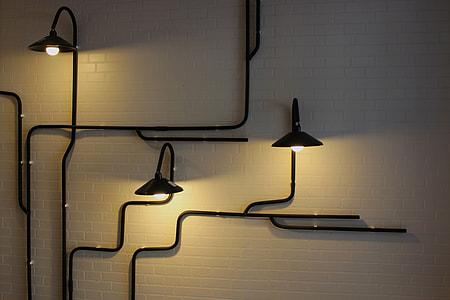 black metal wall lamps