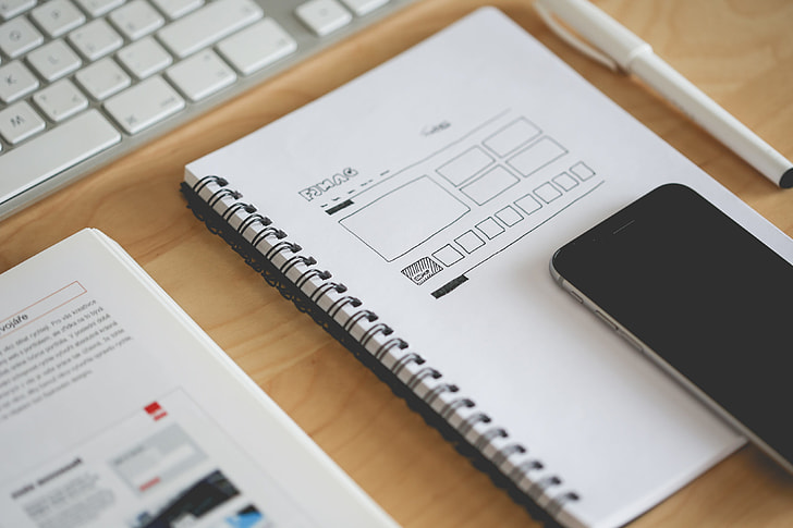 Royalty-Free photo: Web Design Layout Sketch | PickPik