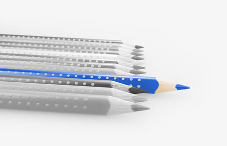 selective color of blue coloring pencil