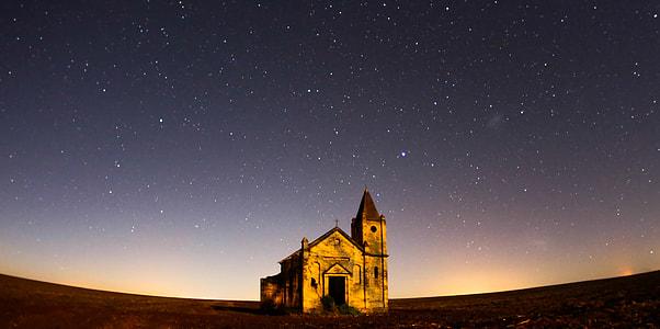 brown concrete chapel