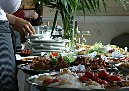 buffet on white table during daytime