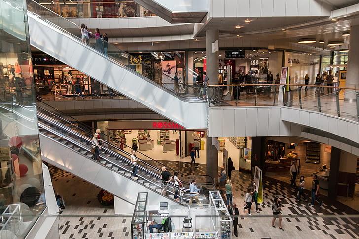 white concrete mall