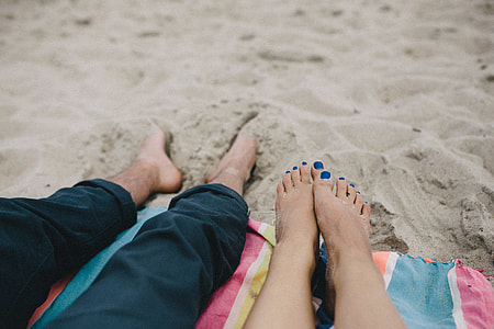 Together at the beach
