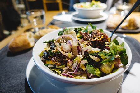 Salad in a salad bar