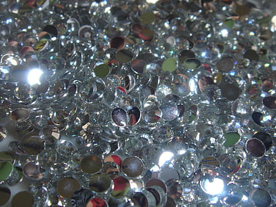 closeup of silver jewelry bead lot