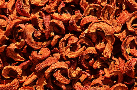 brown dried fruits