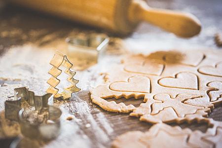 Preparing Christmas Sweets for Baking