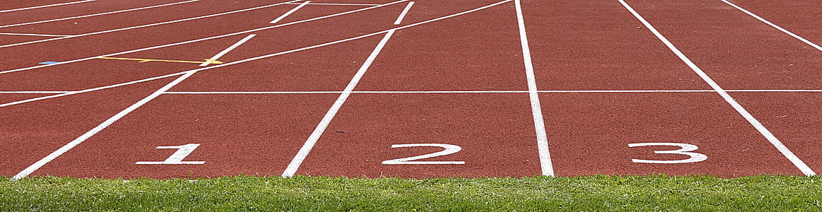 track & field track during daytime