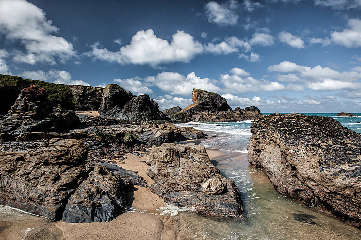 Rocks on the Atlantic Coast of Cornwall, England