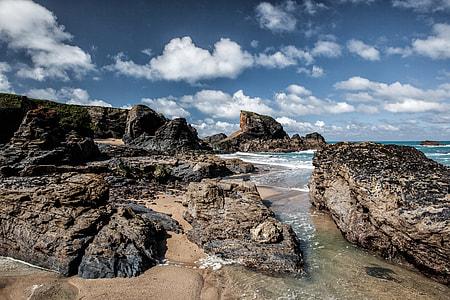 Rocks on the Atlantic Coast of Cornwall, England