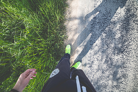 Man in Running Shoes Ready to Run