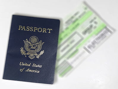 blue USA Passport book