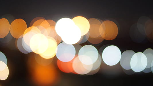 photo of bokeh effects of lights