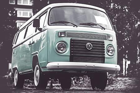 green Volkswagen Kombi