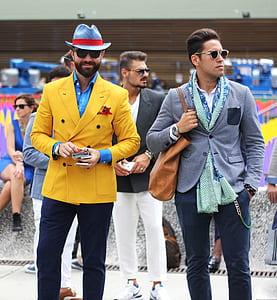 group of men in formal coats