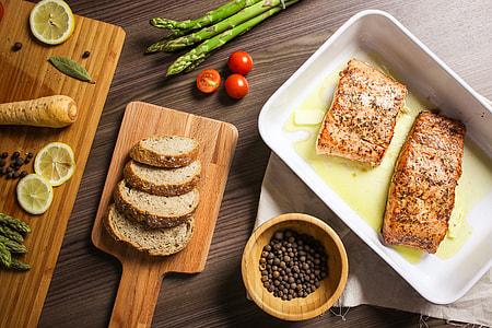 Grilled Salmon Steak is Ready