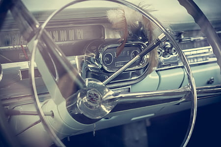 chrome steering wheel