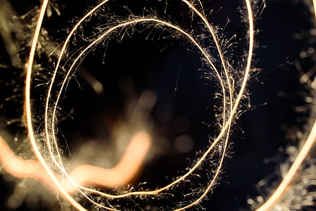 timelapse photography of steel wool