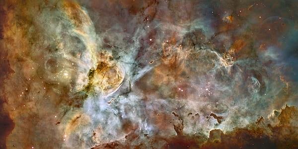 brown galaxy digital wallpaper