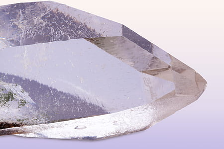 pure quartz, rock crystal, mineral, trigonal, prism surfaces, silicon dioxide