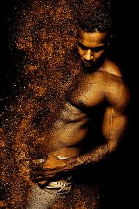 topless man poster