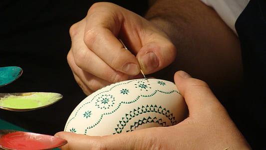 easter, arts crafts, sorbian, easter egg, painted