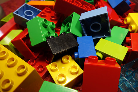 assorted-colored building blocks