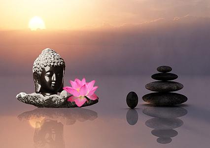 The Cairn and Gautama Buddha figurine