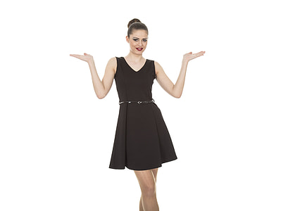 women's black sleeveless cocktail