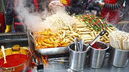 assorted street foods