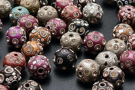 bunch of decorative ball