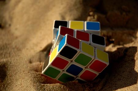 3x3 Rubik's cube on sand