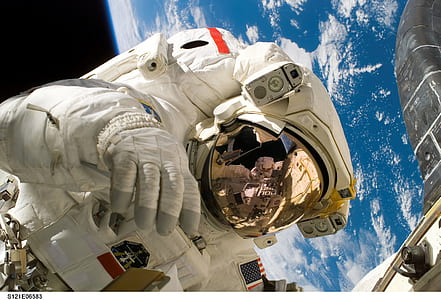 astronaut on outer space